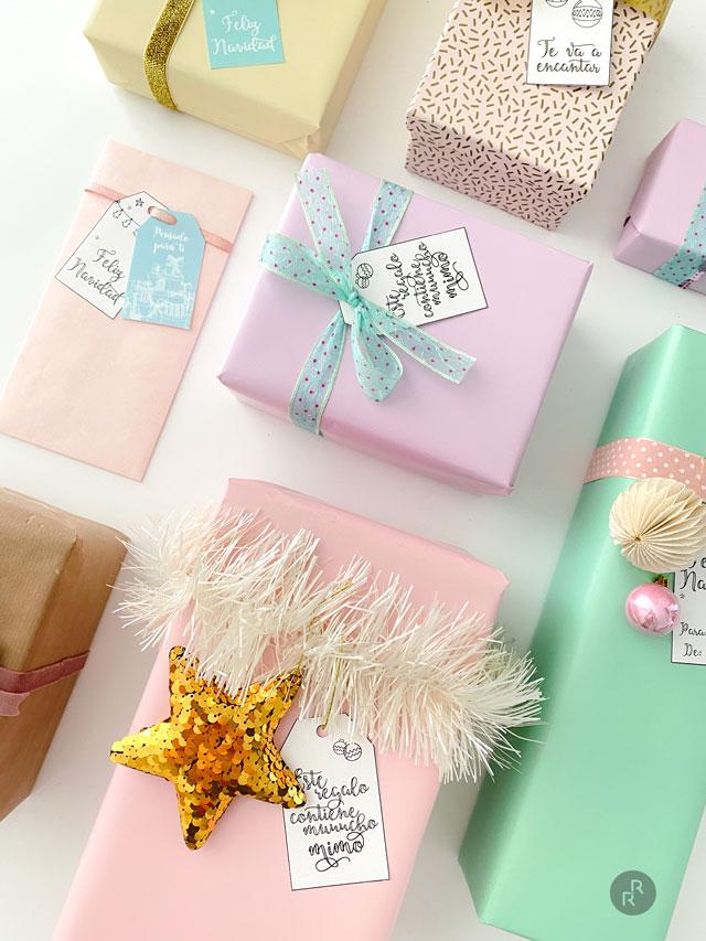 Etiquetas regalos Navidad. Imprimibles Gratis