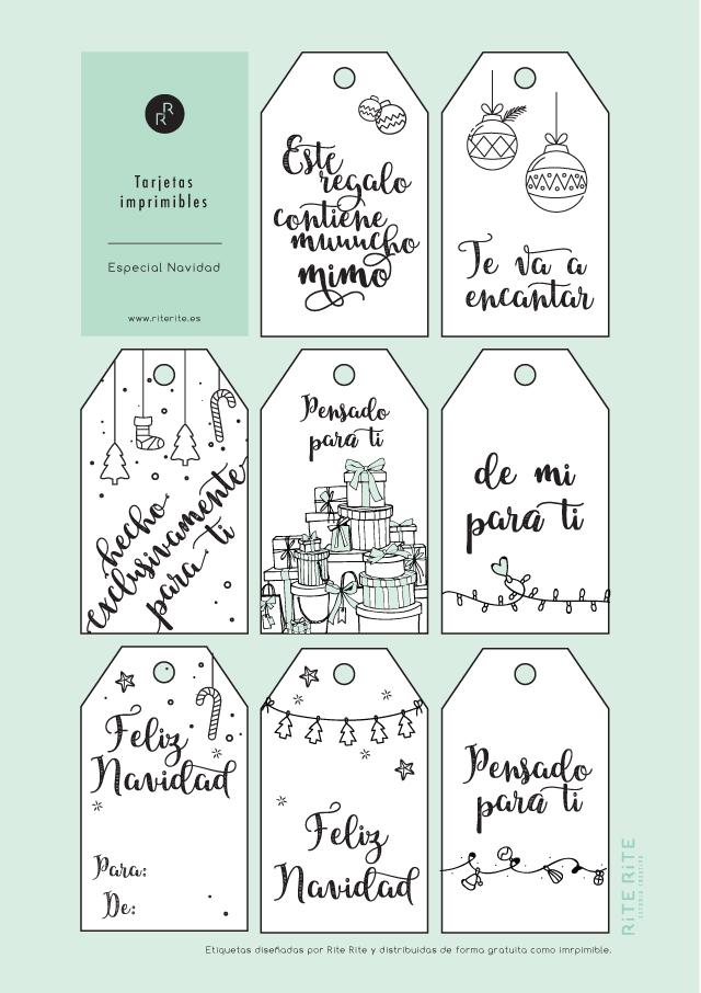 Etiquetas imprimibles Navidad gratis